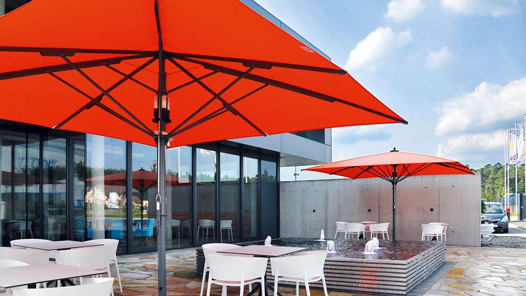 Bahama Jumbrella Sonnenschirm für Bürogebäude und Gastronomie