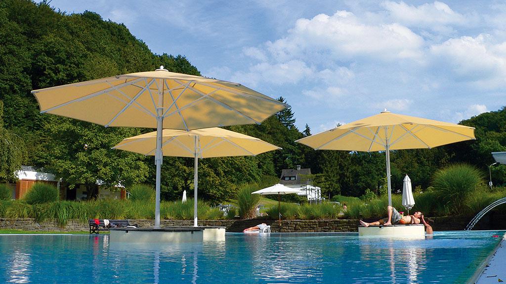 Jumbrella von Bahama - Die Sonnenschutz-Lösunge für Pools und Terrassen