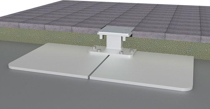 Bahama Event Stahlplattenstaender mit Distanzstueck fuer Bodenbefestigung