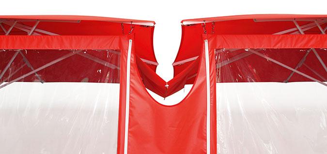 Seitenwände mit Textilen Verbundrinnen Bahama Jumbrella
