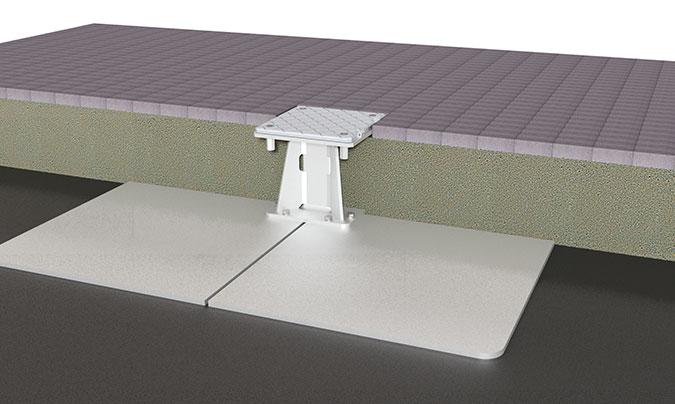 Jumbrella XL Stahlplattenstaender Distanzstueck Bodenbefestigung