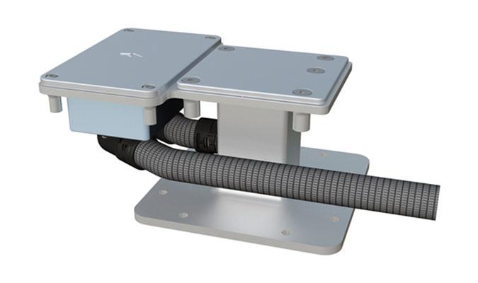 Bahama Jumbrella Stahlplattenstaender fur Elektroinstallation