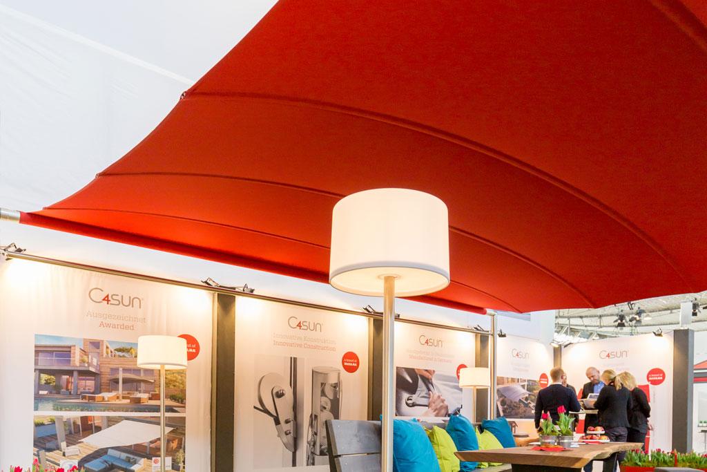 C4sun Sonnensegel von Bahama auf der R+T Messe 2018 in Stuttgart