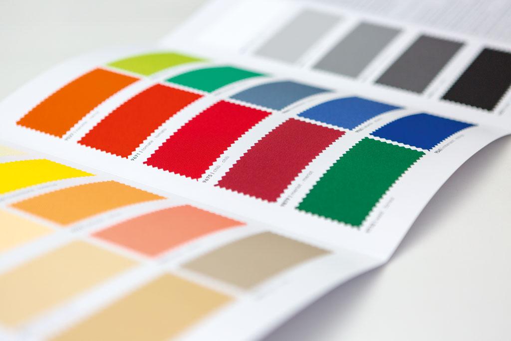 Farbkarte Betex Bahama Texile Membranen für unsere premium Sonnenschirme