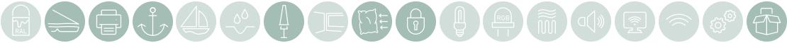 Event Zusatzausstattung Icons