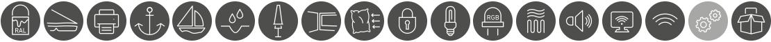 Jumbrella Zusatzausstattung Icons