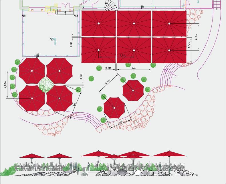 Kompetente Planung - Sonnenschirme für Hotellerie